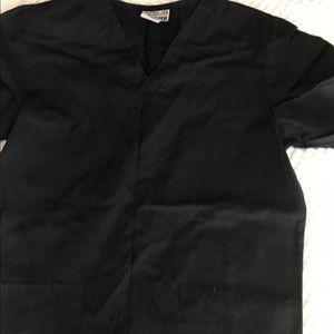 Pants - Black Scrub Top
